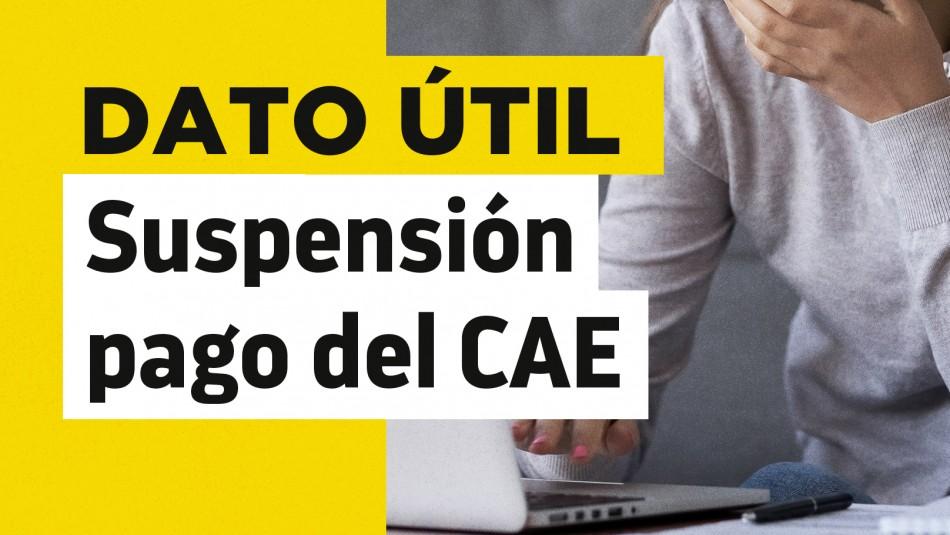 Suspensión pago crédito CAE