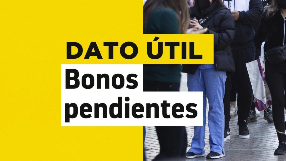 Bonos pendientes: Revisa con tu RUT si tienes dinero sin cobrar