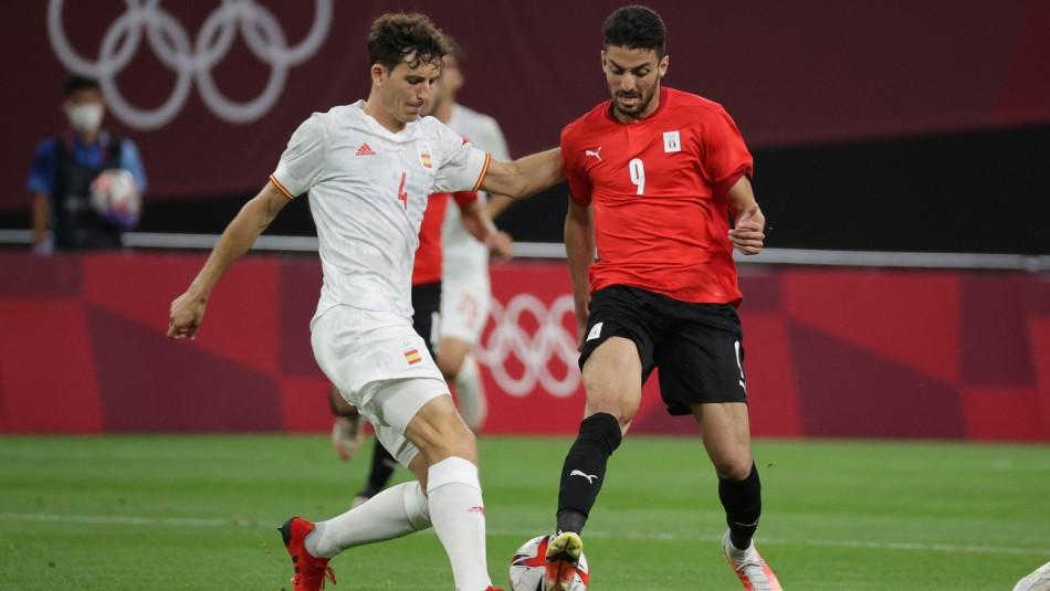 España igualó sin goles ante Egipto en Tokio 2020.