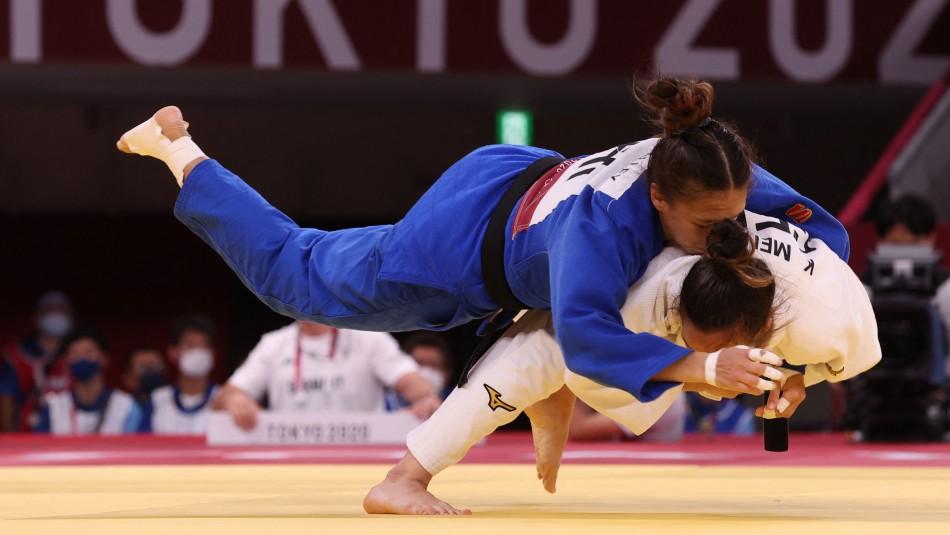 La judoca chilena Mary Dee Vargas debutó con un triunfo en Tokio 2020.