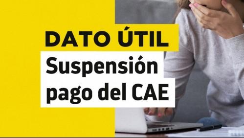 Suspensión de pago del CAE: Revisa quiénes pueden optar al beneficio