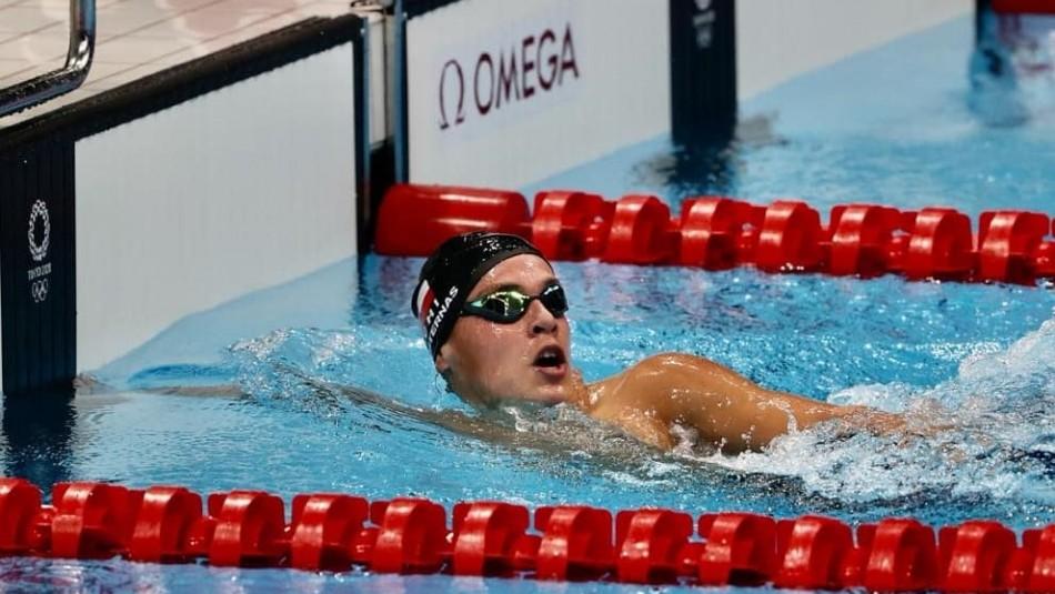 Team Chile: Eduardo Cisternas ganó su serie en natación y logró récord nacional