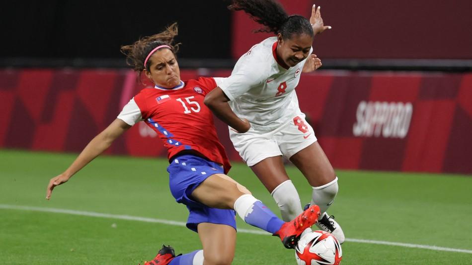 La Roja femenina perdió ante Canadá en Tokio.