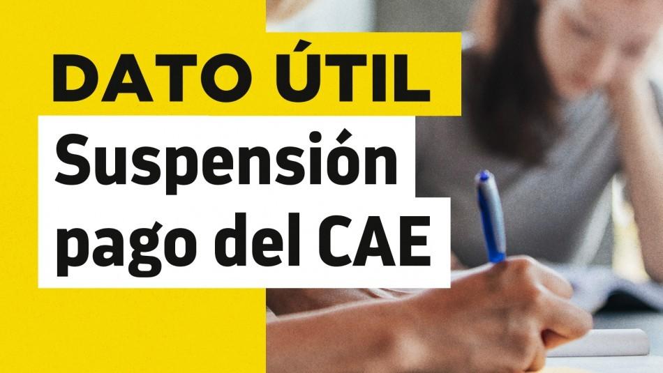 Suspensión del CAE: ¿Puedo solicitar el beneficio si estoy atrasado en el pago de cuotas?
