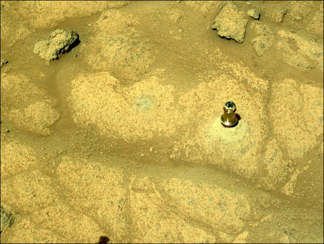 Broca instalada en la roca