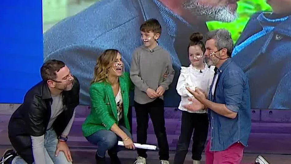 Diana Bolocco y sus hijos