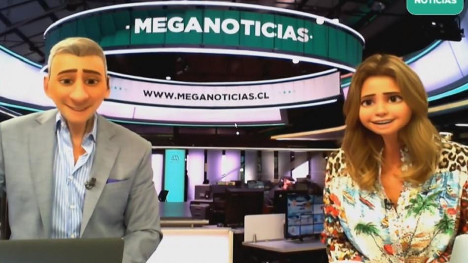 Soledad Onetto y Juan Manuel Astorga se convierten en personajes de Pixar en Meganoticias