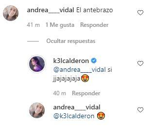 Respuesta de Kel Calderón a seguidora