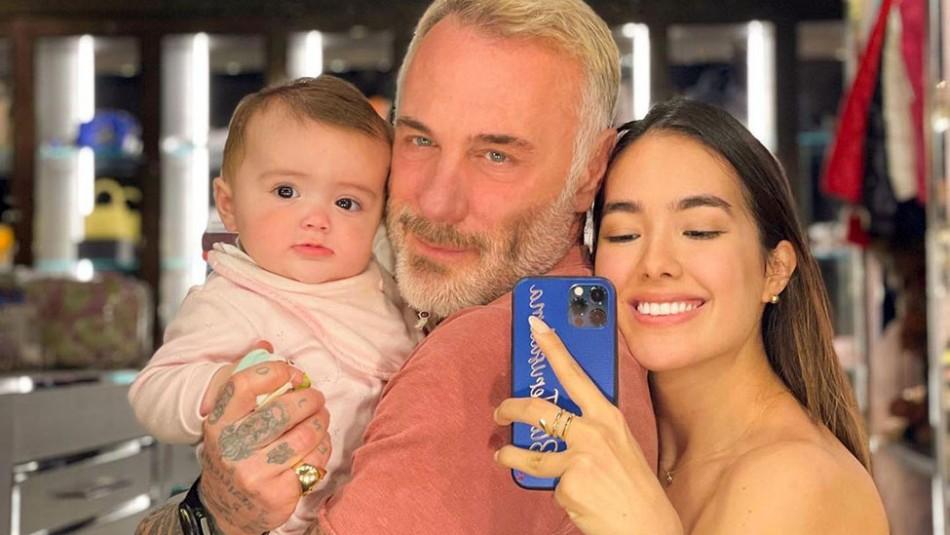 Gianluca Vacchi cambia de look para su cumpleaños 54 y se pinta el nombre de su hija en el pelo