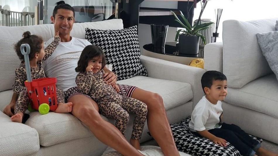 El video viral de las hijas de Cristiano Ronaldo viendo
