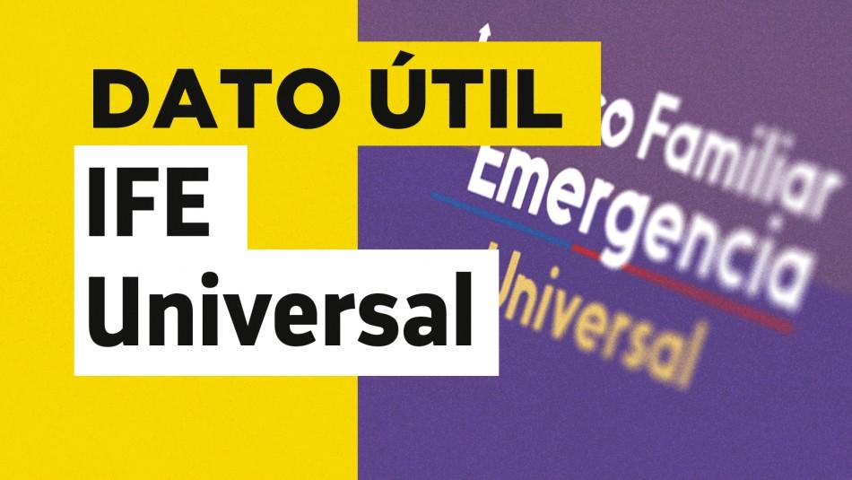 IFE Universal extendido montos septiembre