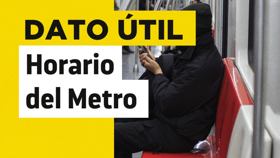 Horario de Metro martes 17 de agosto