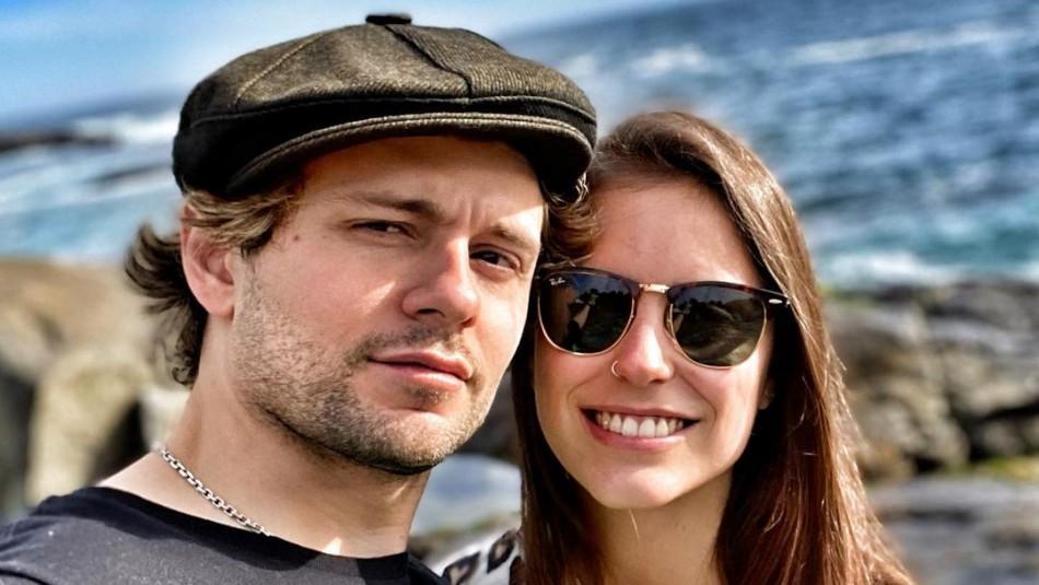 Joaquín Méndez y su polola Amanda Martínez