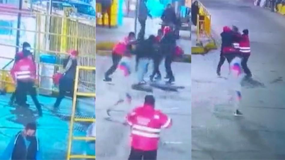 Video muestra agresión a guardia que perdió un ojo tras pelea en terminal de buses