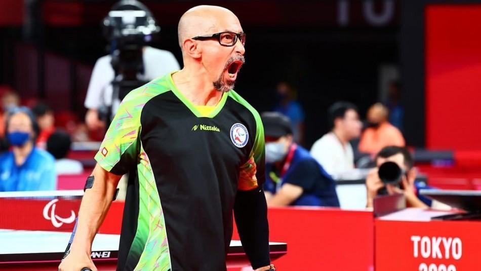 Cristián Dettoni derrota al número uno del mundo en tenis de mesa de los Juegos Paralímpicos