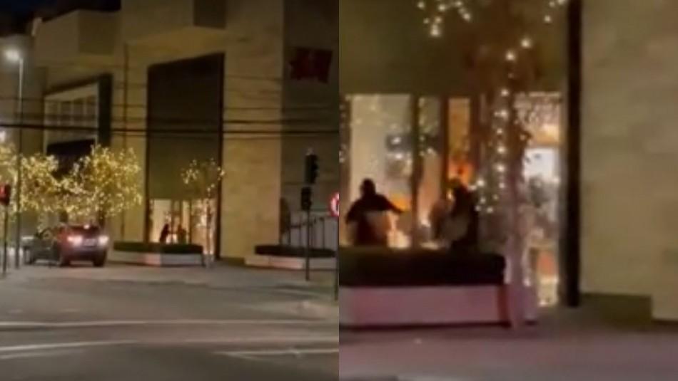 Violento robo se registró en mall Casacostanera de Vitacura