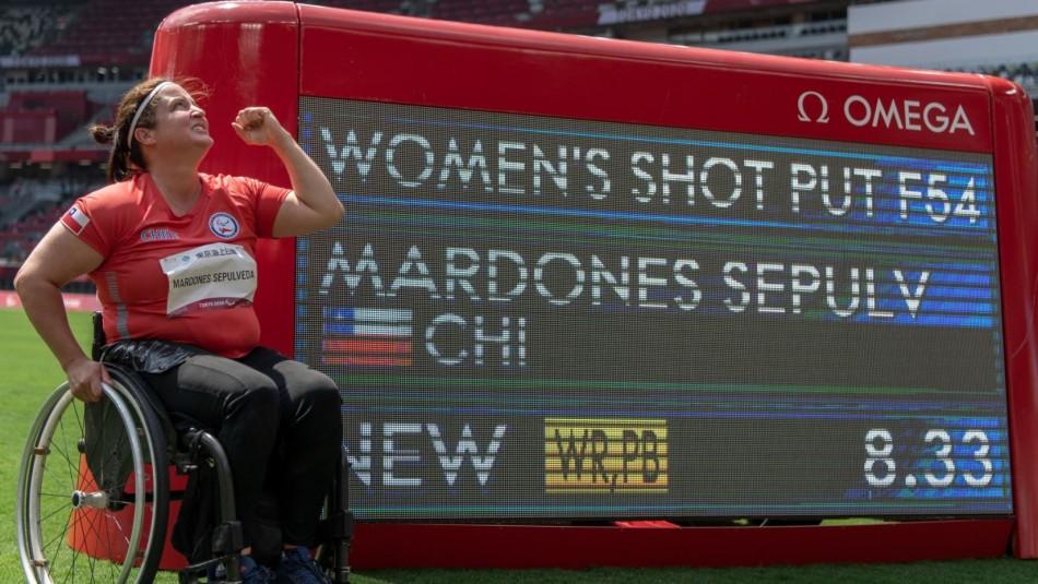 Lanzadora paralímpica Francisca Mardones logra medalla de oro y bate récord mundial