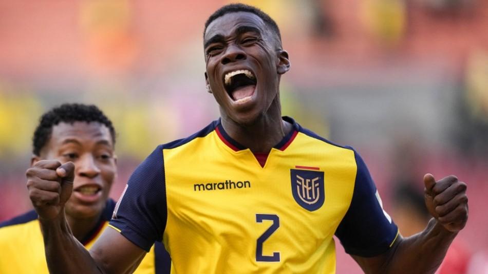 Ecuador vence a Paraguay y avanza a los primeros lugares de la tabla