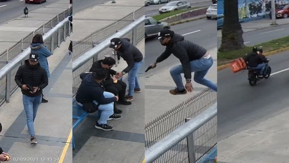 Cámaras registran intento de robo y baleo en estación del Metro de Valparaíso