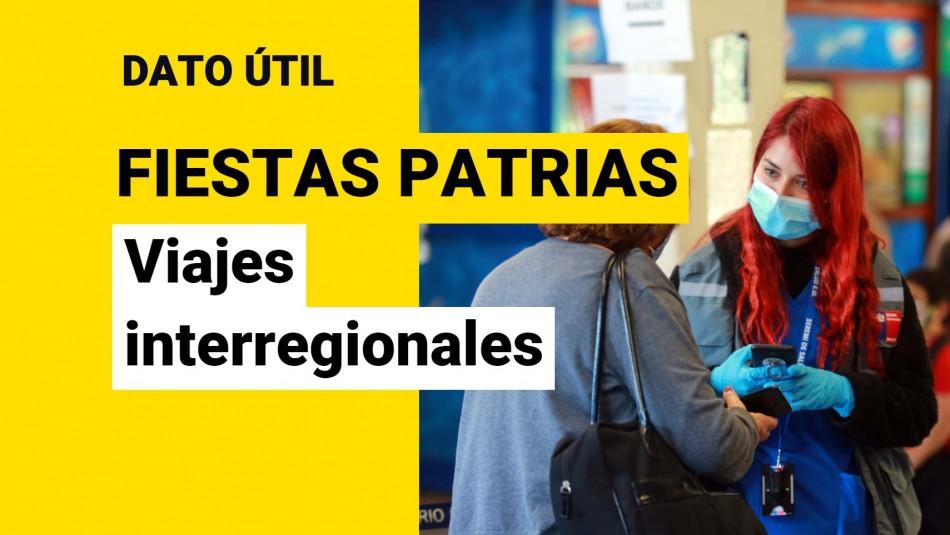Documentos para viajes interregionales