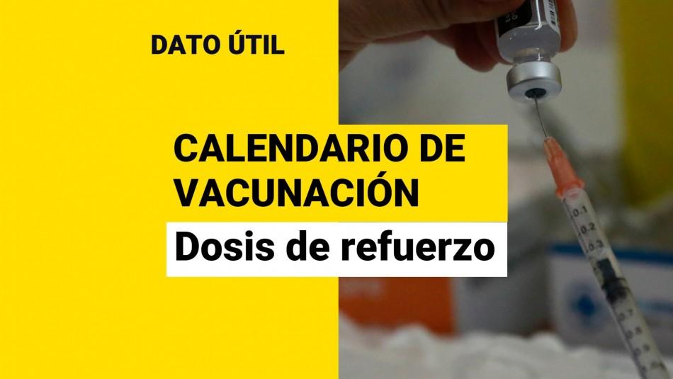 Dosis de refuerzo: ¿Quiénes reciben la vacuna este miércoles 6 de octubre?