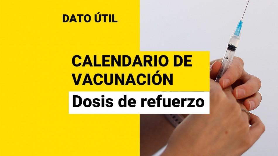Dosis de refuerzo: ¿Quiénes reciben la vacuna este jueves 16 de septiembre?