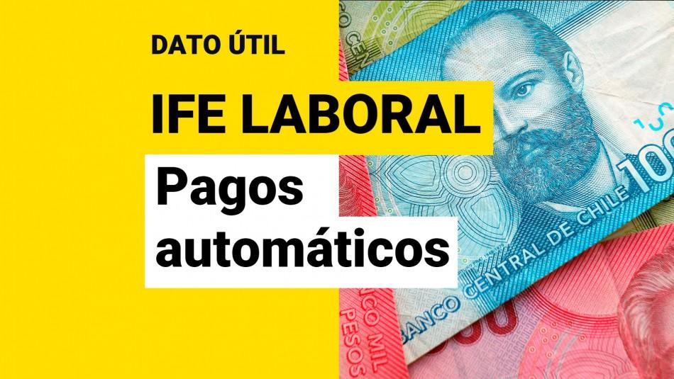 Pagos automáticos del IFE Laboral