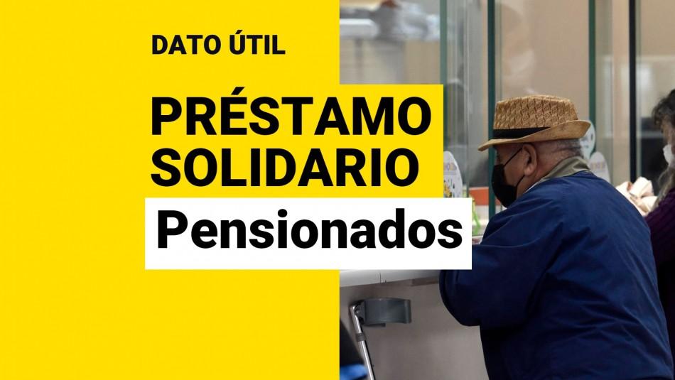 Préstamo Solidario pensionados rentas vitalicias
