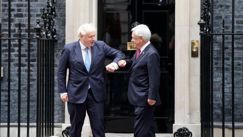 Piñera cierra su gira por Europa con reunión con Boris Johnson enfocada en la pandemia y cambio climático