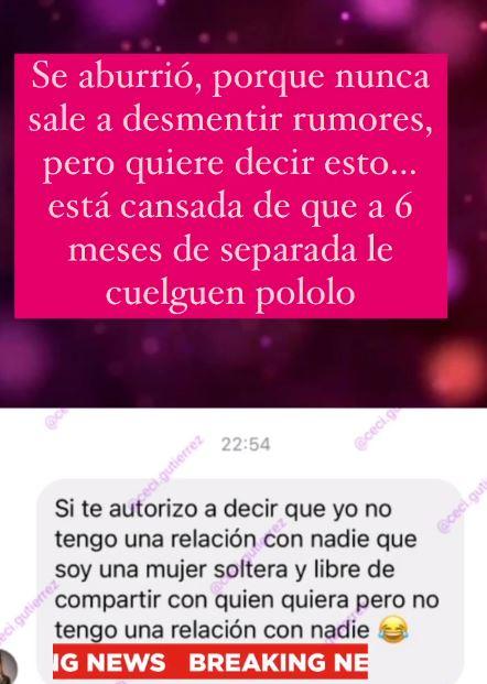 La respuesta de Gala Caldirola a la periodista Cecilia Gutiérrez