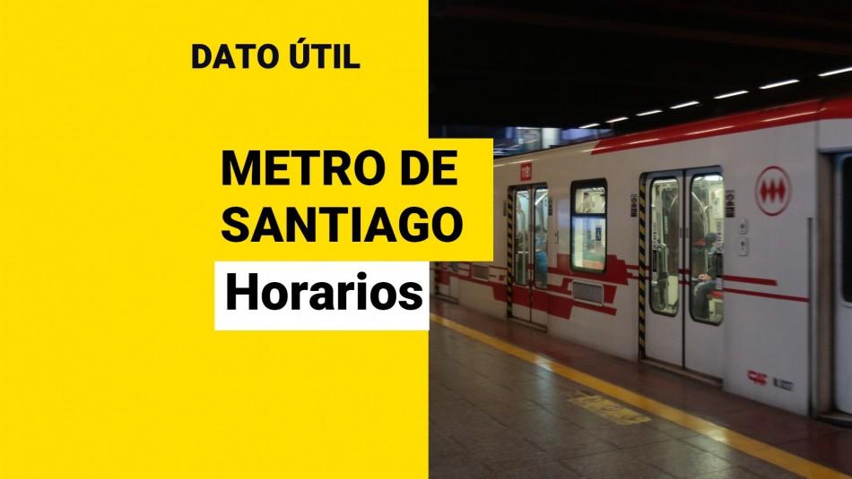 Metro de Santiago: ¿Cuál es el horario de funcionamiento este viernes 24 de septiembre?