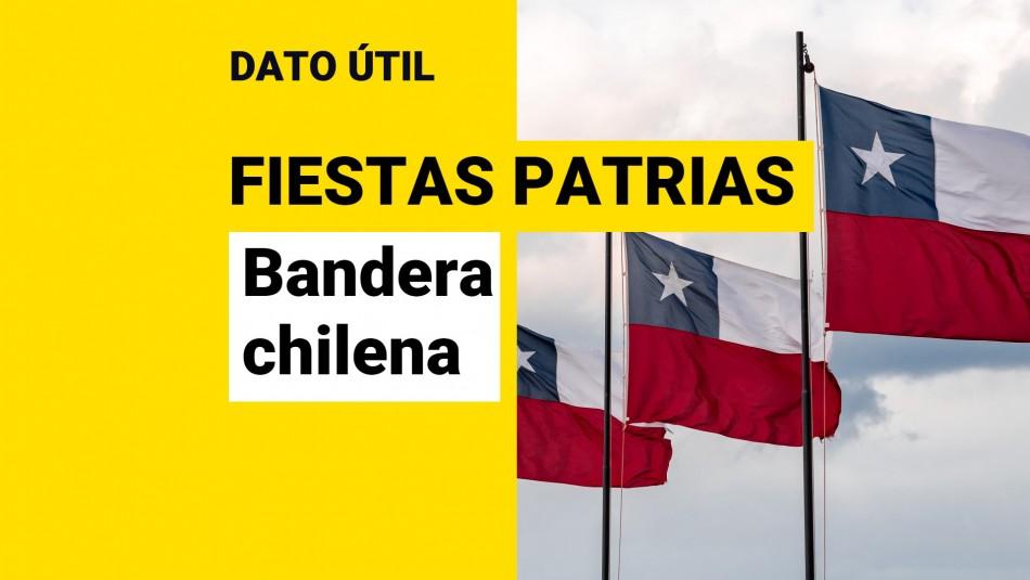 Fiestas Patrias: Cuáles son las multas por no colocar la bandera chilena