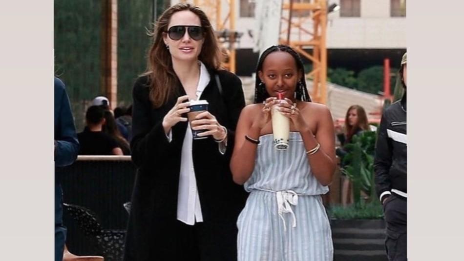 Angelina Jolie y Zahara se van de paseo al museo: Madre e hija dan una lección de outfits de buen gusto
