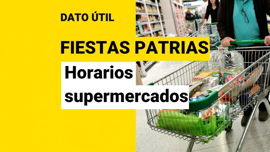 horarios supermercados fiestas patrias