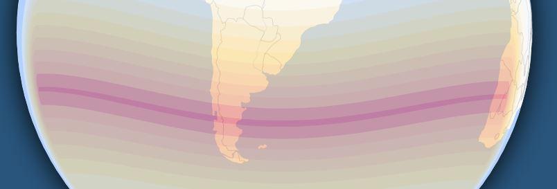 Este es el recorrido calculado para el eclipse totol de sol en 2048