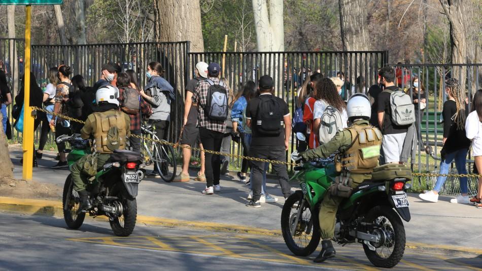 Minsal repudia fiesta masiva en Parque Padre Hurtado y anuncia sumario sanitario contra organizadores