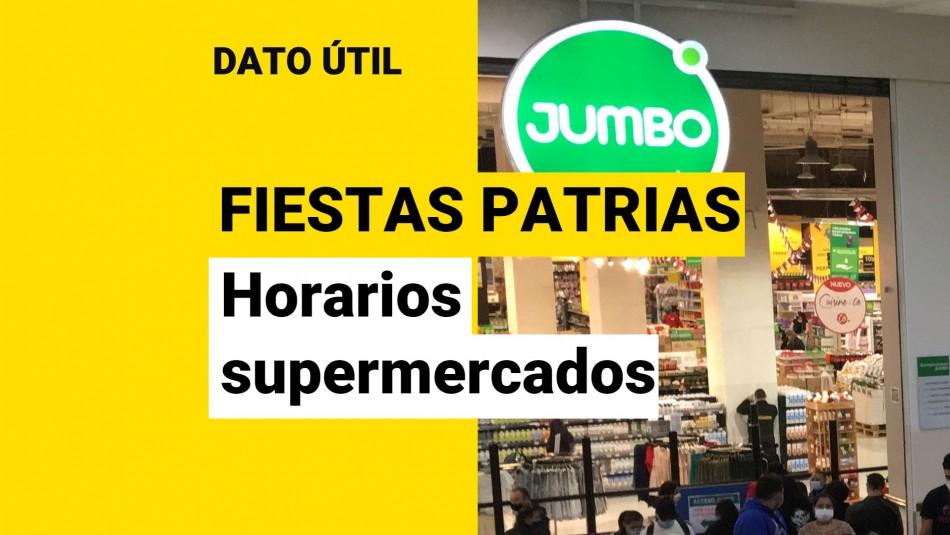 supermercado jumbo horario