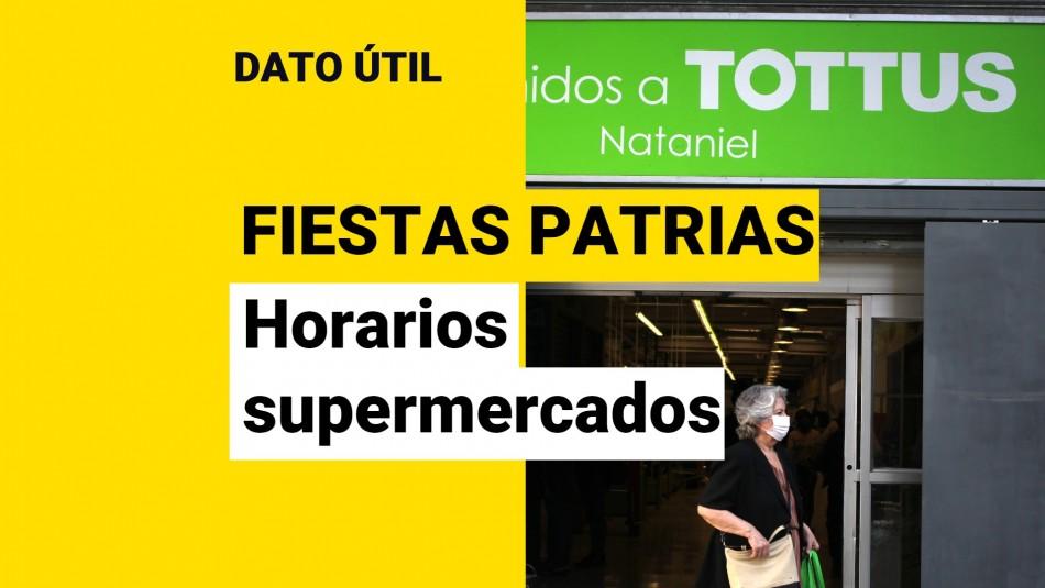 supermercado tottus horario