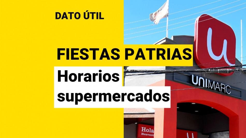 supermercado unimarc horario