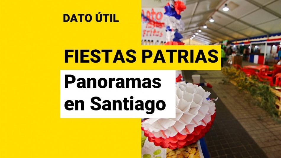 panoramas fiestas patrias santiago