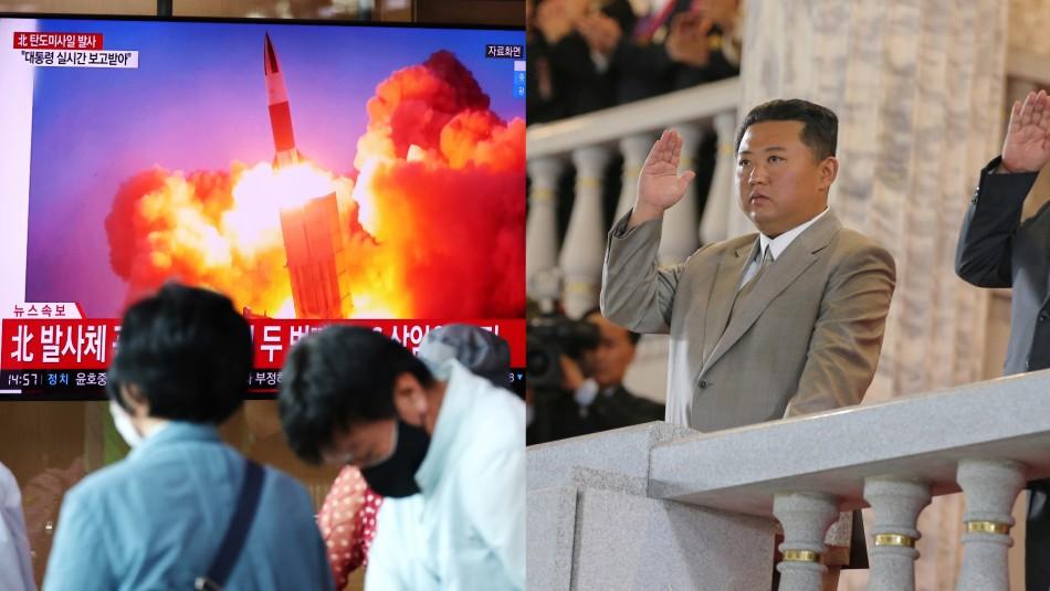 Corea del Norte lanza un misil no identificado días después de exitoso ensayo con proyectiles de larga distancia