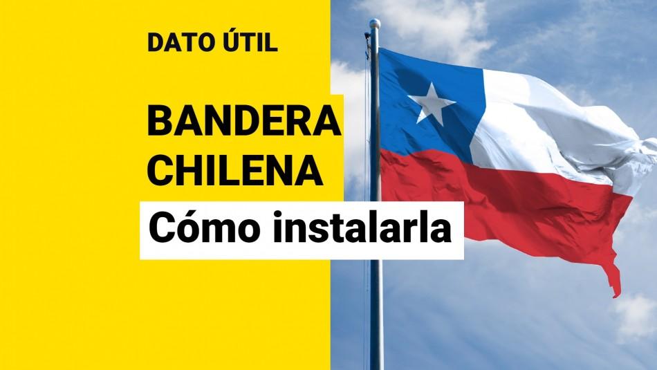 posiciones bandera chilena