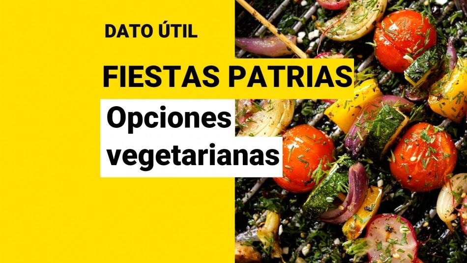Asado vegetariano fiestas patrias