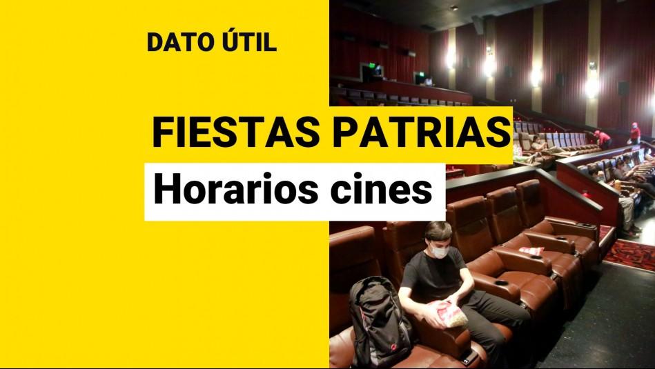 horarios cine fiestas patrias