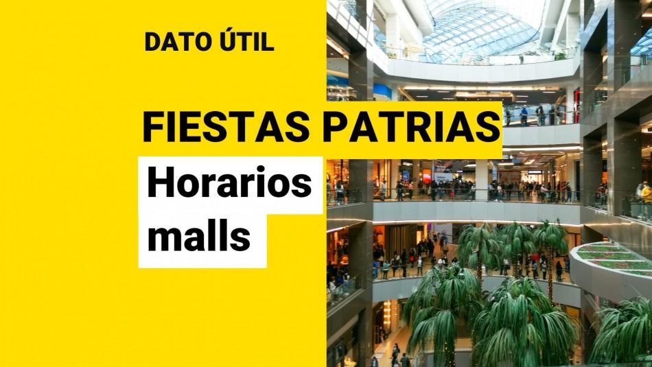 horarios malls fiestas patrias