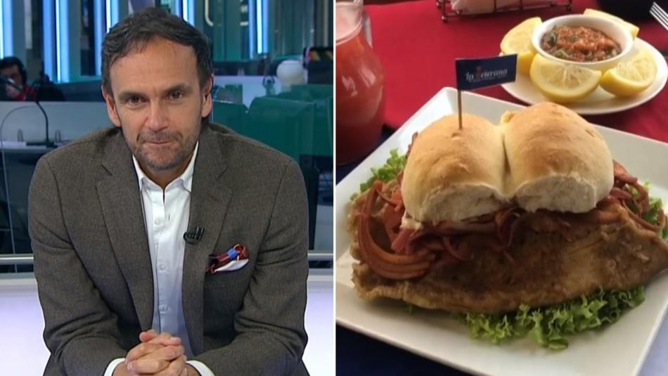 ¡Otra vez!: Rodrigo Sepúlveda es sorprendido con creación de nuevo sandwich