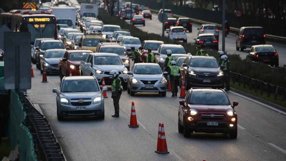 Fiestas Patrias 2021: Más de 145 mil vehículos han salido de la Región Metropolitana