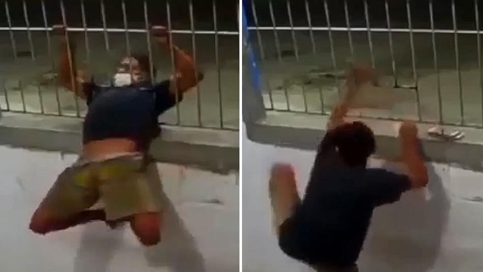 Video del momento en el que ladrón logra entrar en una casa por un pequeño espacio se vuelve viral