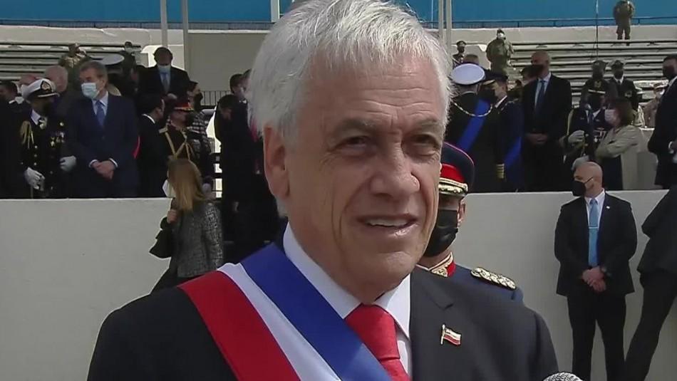Presidente Sebastián Piñera por recuperación económica: