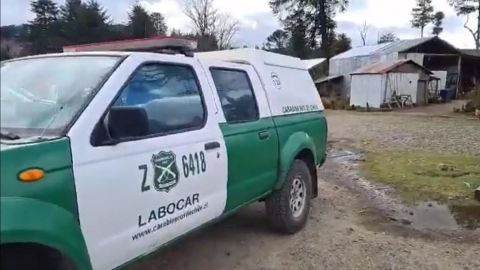 Un matrimonio quedó herido de gravedad luego que su casa fuera incendiada por desconocidos en Carahue